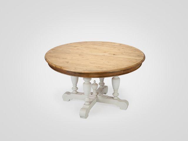 Стол обеденный круглый ОКСФОРД из натурального дерева в американском стиле