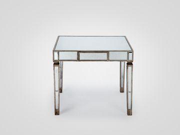 Стол зеркальный ГАРРИ квадратный в стиле арт-деко