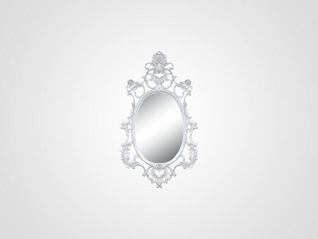 Зеркало в классическом стиле белого цвета