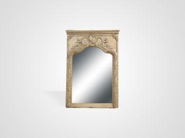 Зеркало  в раме из натурального дерева со старением и патиной стиль прованс