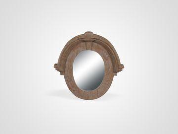Зеркало в раме из дерева минди в классическом стиле
