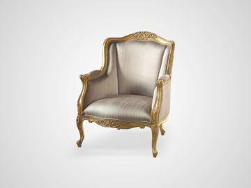 Кресло Версаль из дерева махагони в обивке шелк, английский стиль