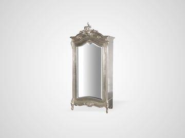 Шкаф платяной серебристого цвета в английском стиле с зеркалом