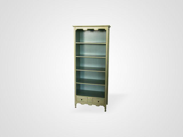 Открытый шкаф ТОММИ для хранения книг из натурального дерева эвкалипт
