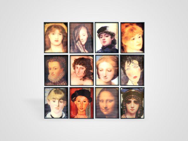 Настенный декор «Женские портреты» в стиле арт-деко