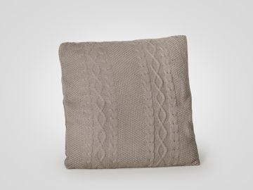 Подушка вязаная серого цвета в стиле прованс