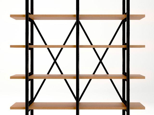 Открытый стеллаж «Industrial» черного цвета