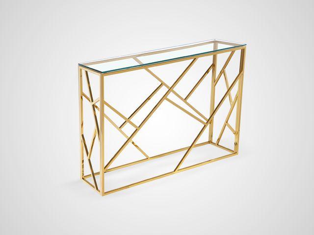 Консоль металлическая со стеклом