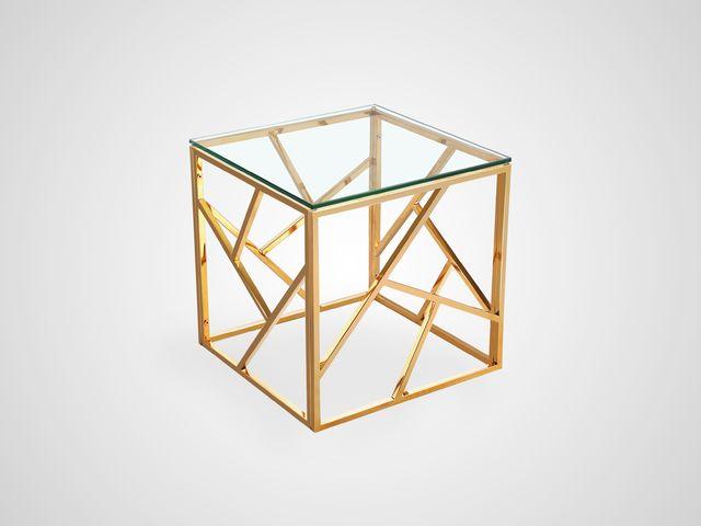 Ламповый столик со стеклом металлический