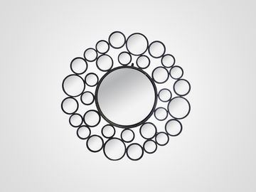 Зеркало декоративное в черных круглых рамах в стиле арт-деко