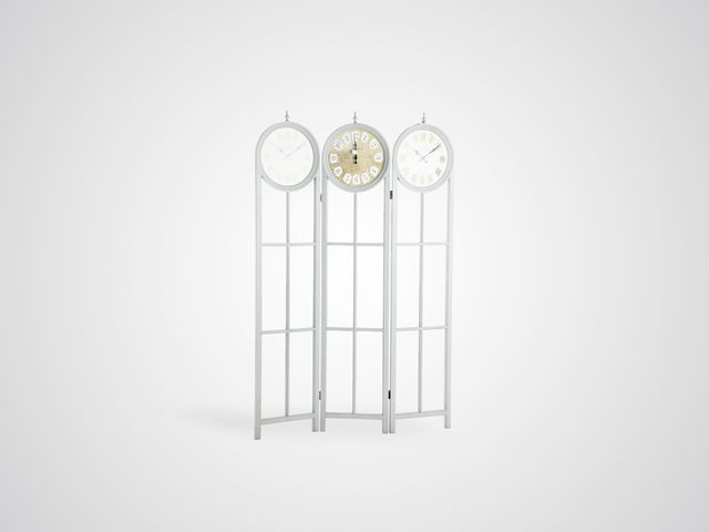 Ширма стеклянная с часами в стиле прованс