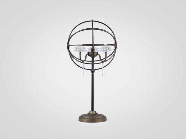 Лампа настольная из металла в стиле лофт