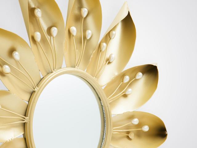 Зеркало «Цветок» декоративное в стиле арт-деко