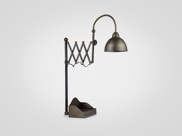 Лампа в стиле лофт металлическая