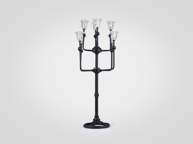 Лампа Канделябр настольная на металлической ножке в стиле лофт