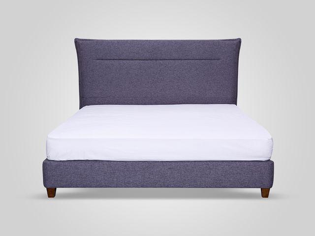 Кровать темно-серого цвета  в классическом стиле