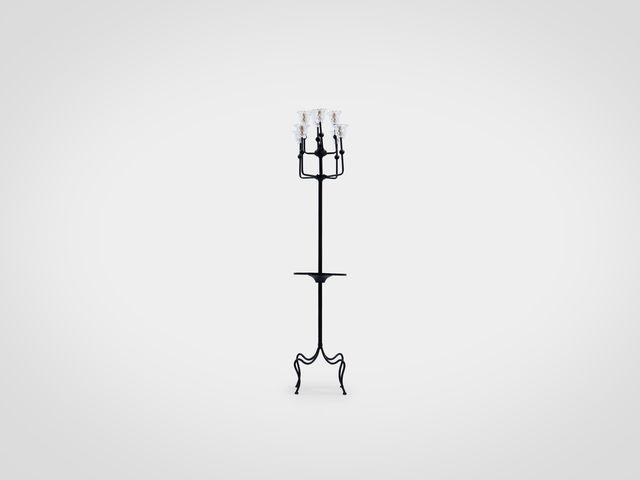 Лампа напольная из металла в стиле лофт