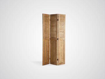 Ширма деревянная из трех створок в стиле лофт