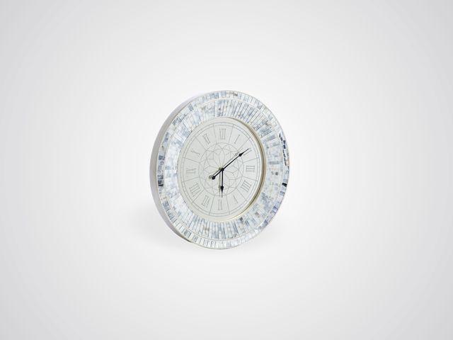Часы настенные круглые зеркальные в стиле арт-деко