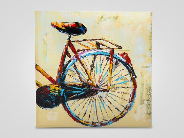 Настенный декор «Велосипед» из двух частей в  стиле арт-деко