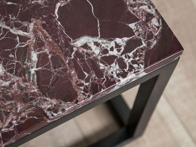 Кофейный мраморный стол Marsala