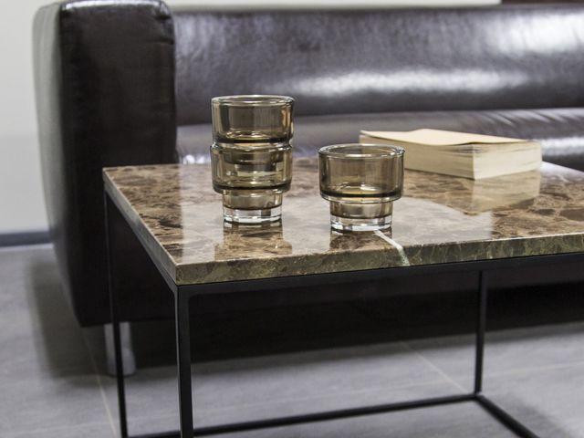 Кофейный мраморный стол Gabiano