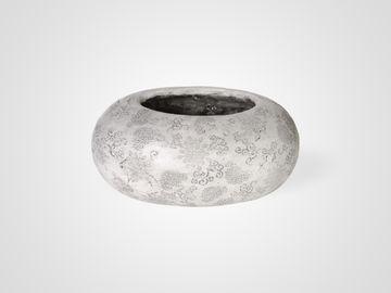 Ваза овальная «Серые узоры» состаренная в стиле прованс