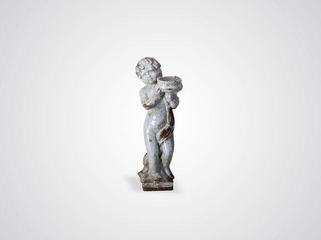Ангел с чашей статуэтка напольная из глазурованной керамики