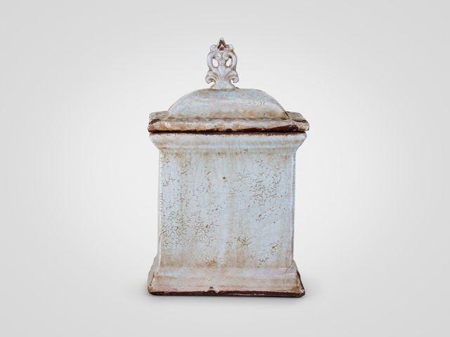 Кувшин с крышкой керамический в стиле прованс