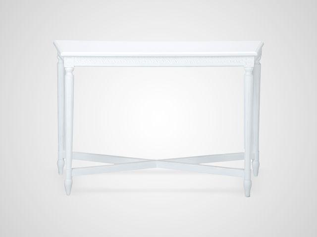 Консоль пристенная белого цвета Скандинавский стиль