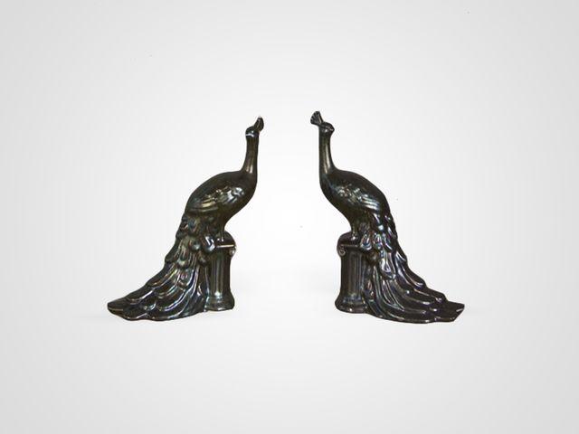 Статуэтка «Павлины» из 2- штук в стиле арт-деко