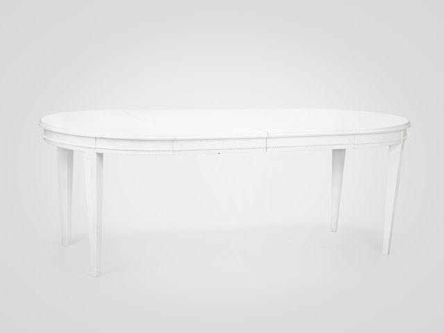 Стол обеденный раздвижной в скандинавском стиле на резных ножках из дерева махагони
