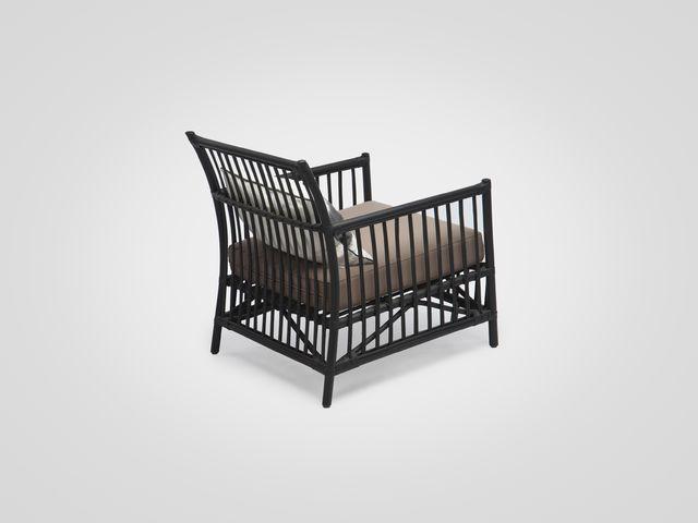Кресло (ротанг  в черном цвете в стиле лофт