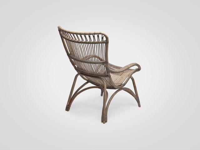 Кресло (ротанг коричневого цвета в стиле лофт