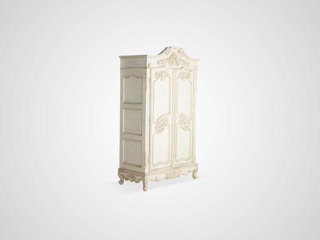Шкаф платяной в классическом стиле с резьбой, патиной и старением