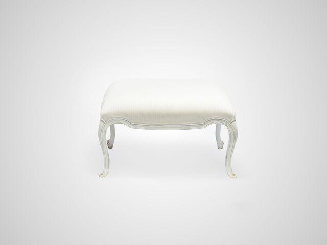 Банкетка CHATEAU в стиле Прованс белого цвета с патиной