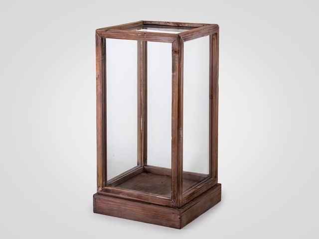 Короб стеклянный большой в стиле лофт