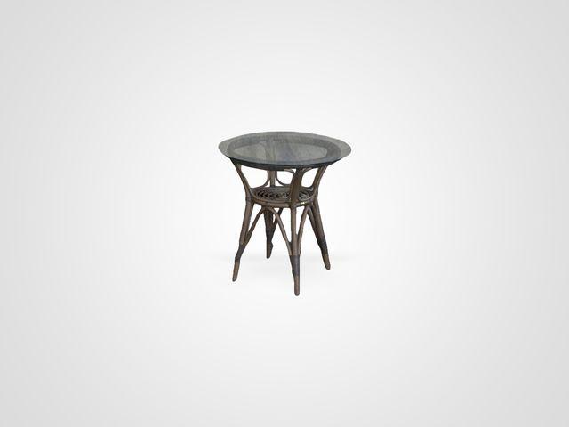Столик из ротанга со стеклом ЭМИ