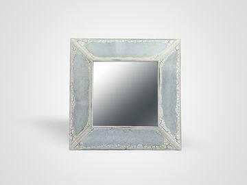 Зеркало настенное из состаренного металла в стиле Прованс