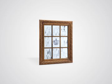 Зеркало декоративное с рисунком и старением в стиле винтаж