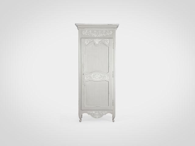 Шкаф ФЛЕР cloudy grey платяной из натурального дерева в стиле прованс