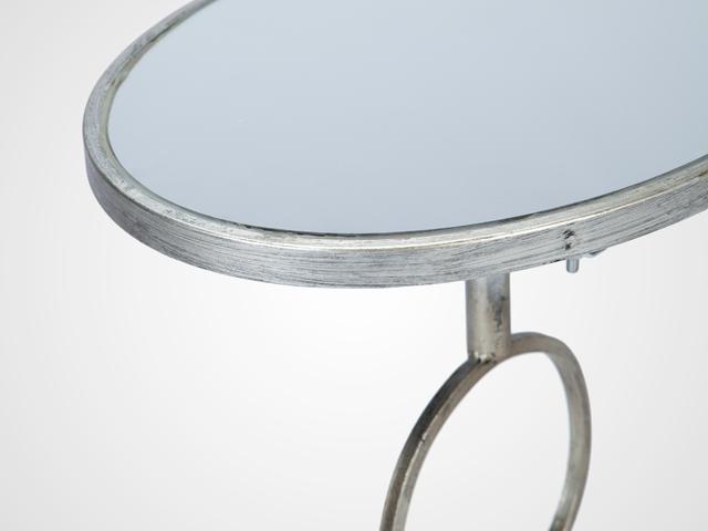 Столик овальный со стеклом