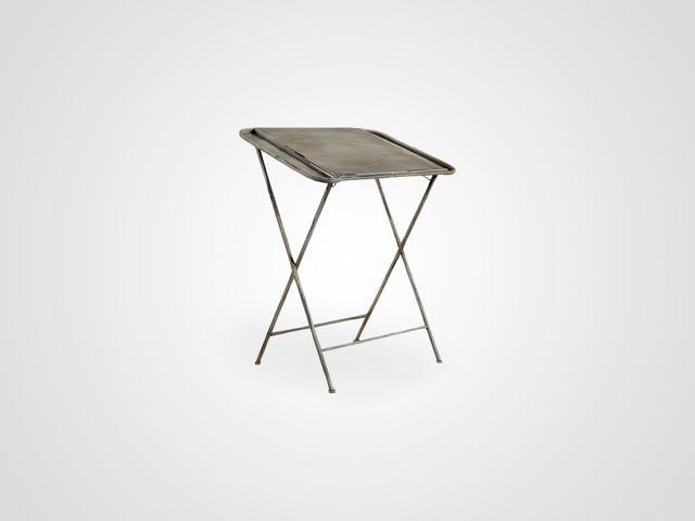 Столик железный ИРМА из металла, раскладной в стиле лофт