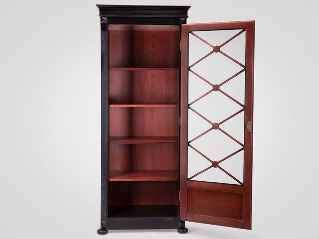 Библиотека «Адам»  в классическом стиле коричневого цвета с патиной