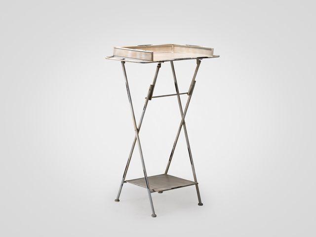 Столик железный АЛМА из металла, раскладной в стиле лофт