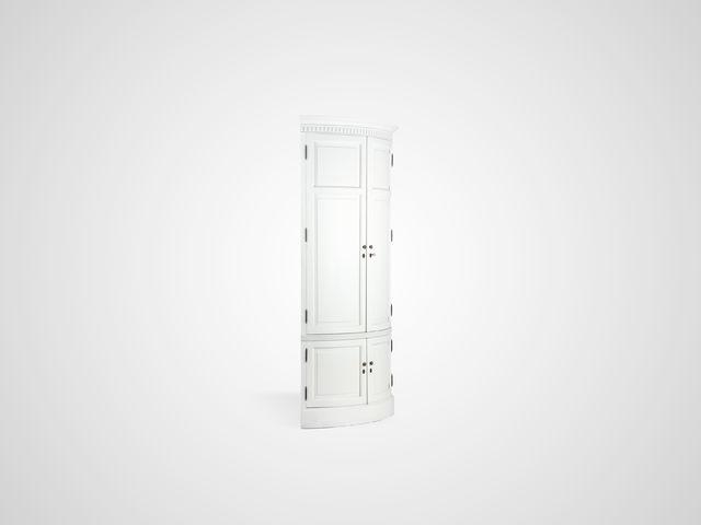Шкаф угловой с полками ЗНДИ Американский стиль из массива дерева