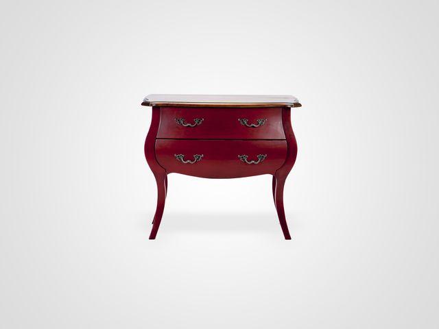 Комод в классическом стиле красного цвета из натурального дерева