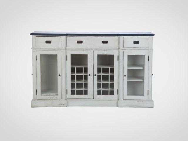 Буфет-винный шкаф со стеклом в стиле Прованс