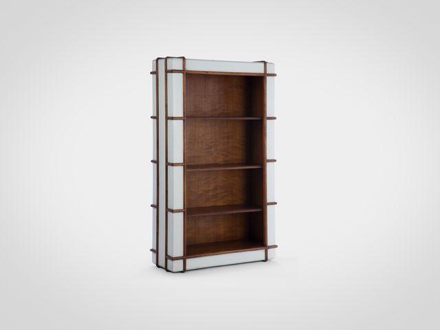 Книжный шкаф ГРЭГ из массива дерева в стиле Лофт