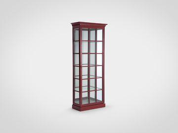 Витрина со стеклом в английском стиле красного цвета